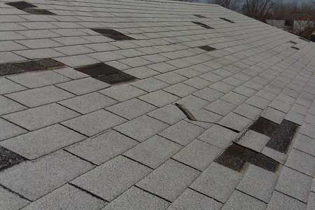 Bare Spots Roofing Problems